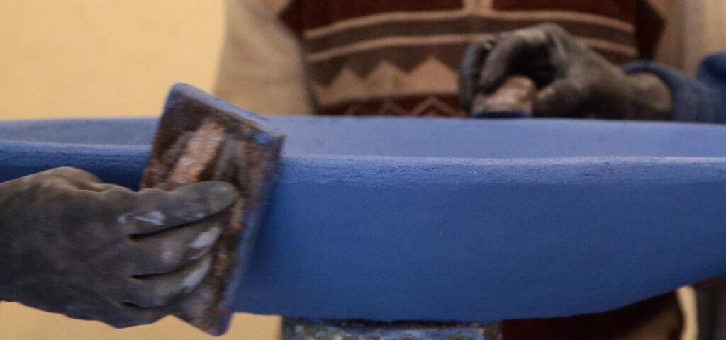 Tadelakt azzurro