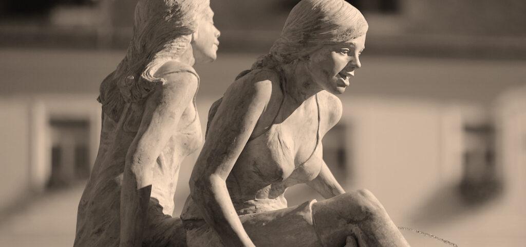 Statua fatta in Cemento Naturale
