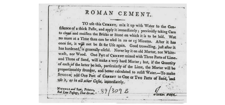 Roman Cement Brevetto