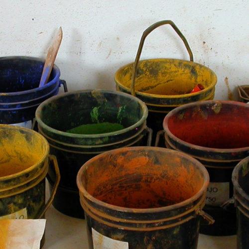 Pittura a calce colorata con pigmenti naturale