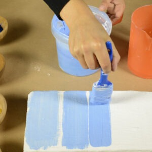 pittura a calce prove di colore