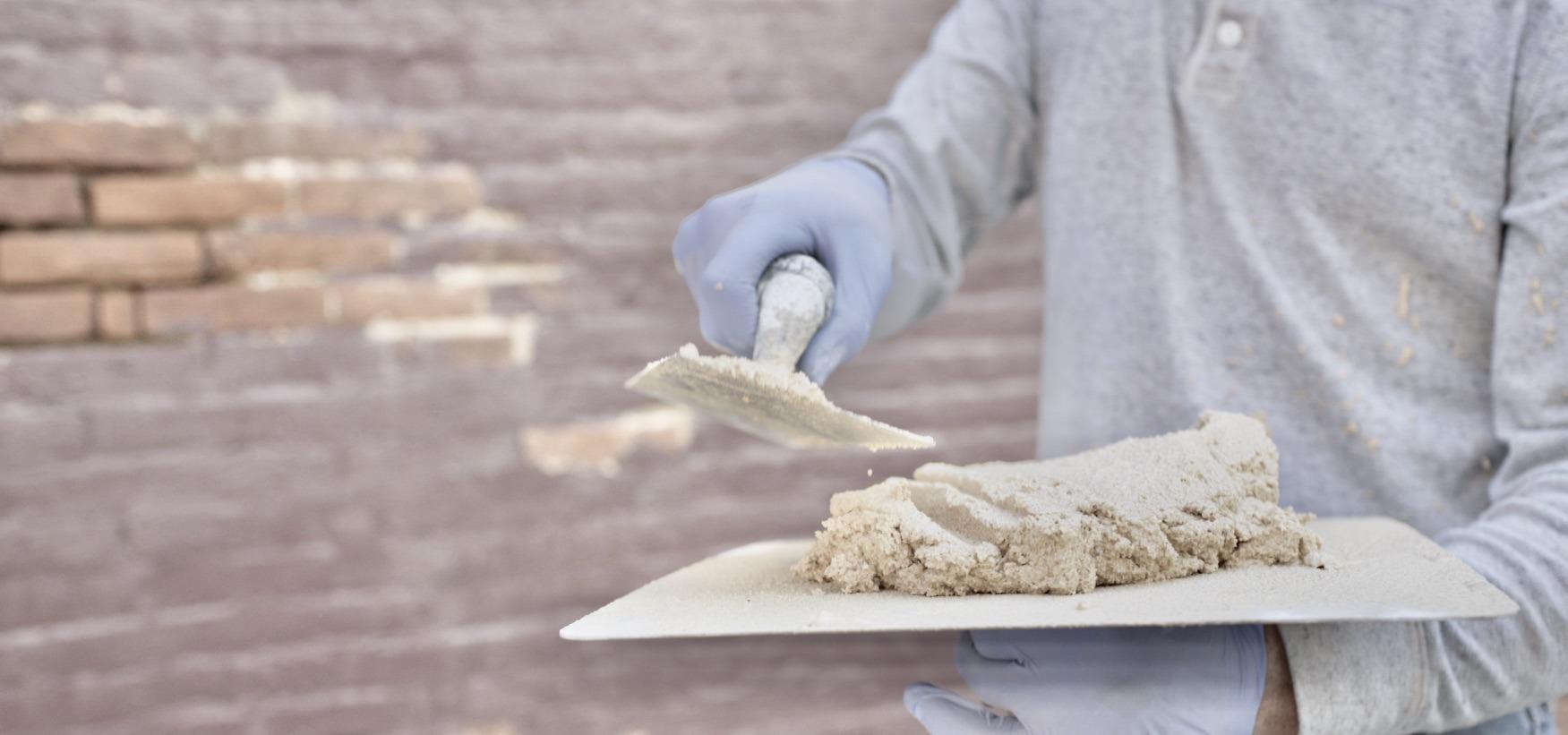 Grassello Di Calce E Sabbia Fatto Da Banca Della Calce