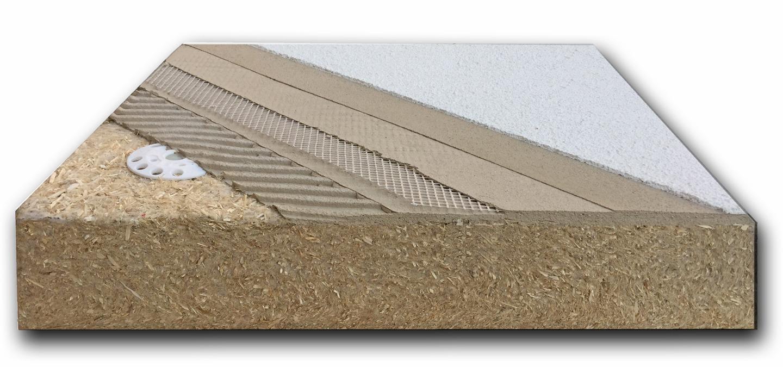 Isolante termico realizzato con pannelli in fibra di canapa - Banca della Calce