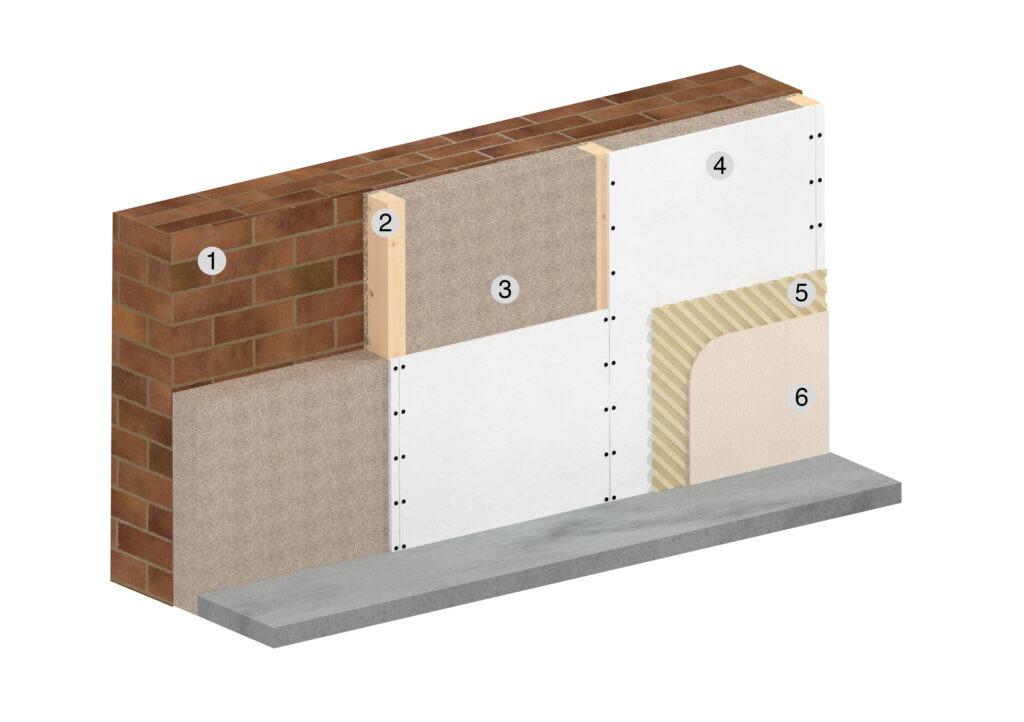 Schema montaggio isolamento parete