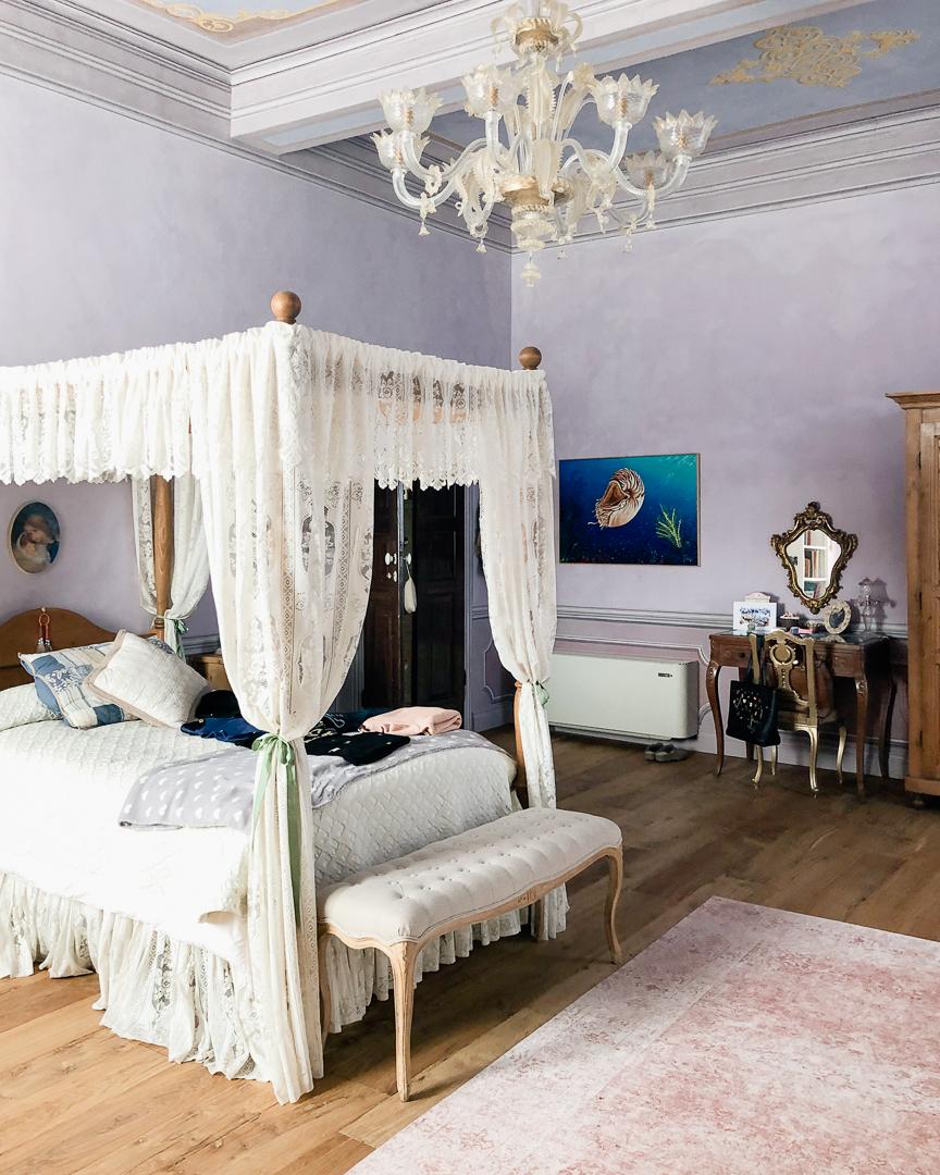 pittura a calce, camera da letto