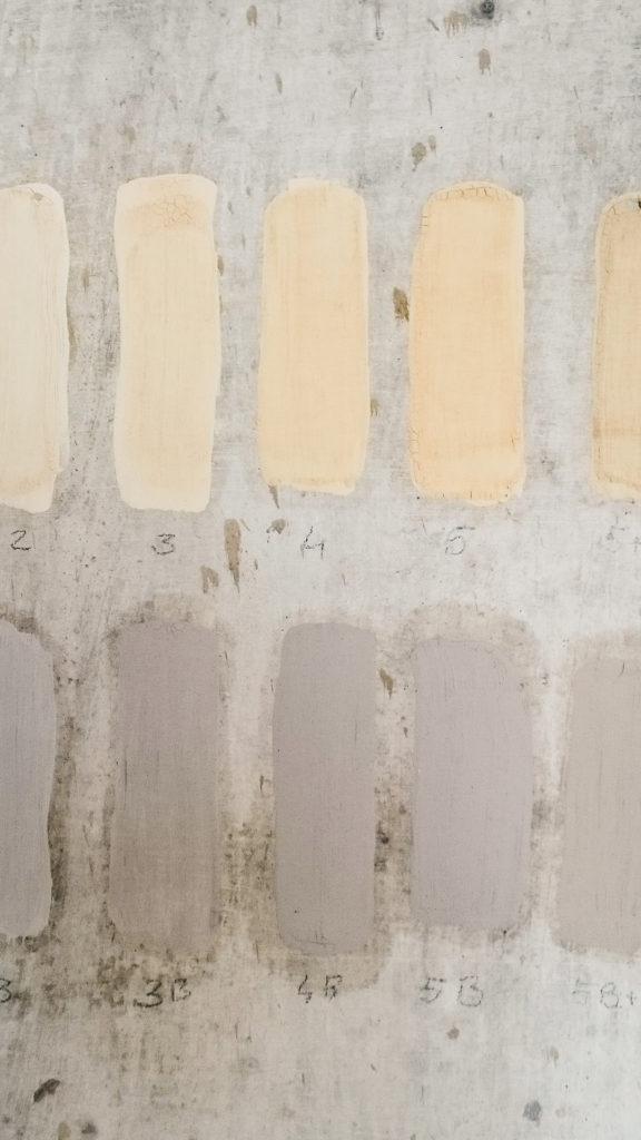 prove colore tinte a calce