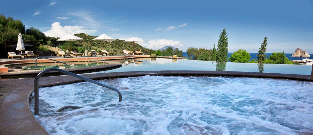 piscina esterna in Tadelakt