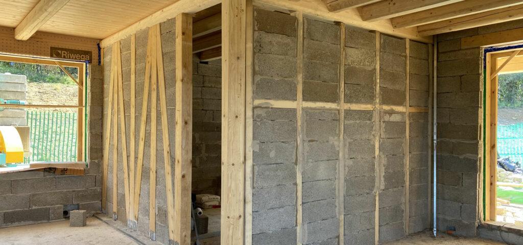 abitazione in blick mattone calce canapa